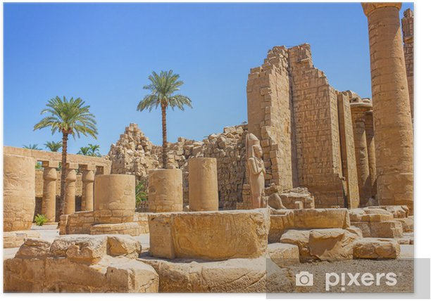 Poster Antike Ruinen der Karnak-Tempel in Ägypten - Afrika