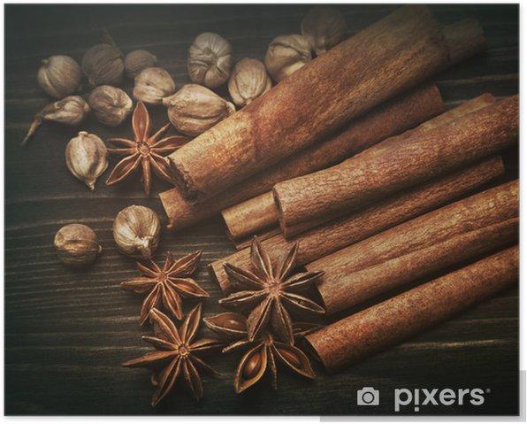 Poster Aromatischen Gewürzen - Gewürze und Kräuter