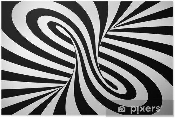 Poster Astratto Sfondo Bianco E Nero 3d Pixers Viviamo Per Il