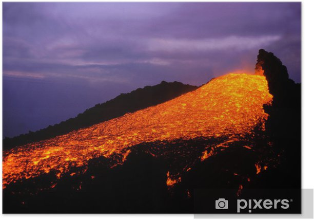 Poster Ätna 0306 - Naturkatastrophen