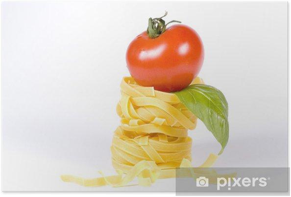 Poster Autoadesivo Gustare la vostra cena di pasta -