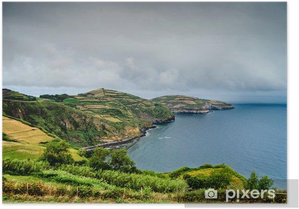 Poster Azoren Küste in dramatischen Himmel - Europa