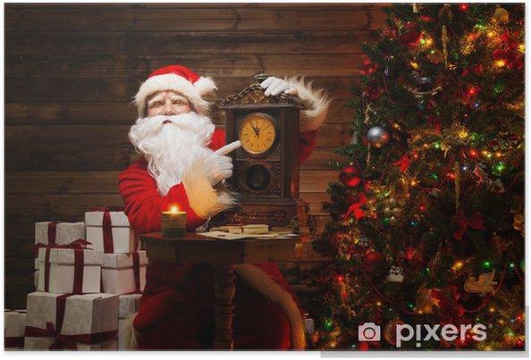 Babbo Natale In Casa.Poster Babbo Natale In Casa Interni In Legno Pixers Viviamo Per