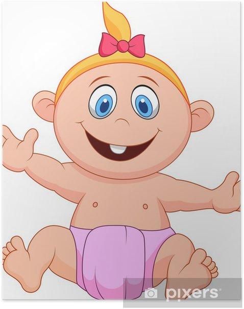 Poster Babykarikatur - Kinder
