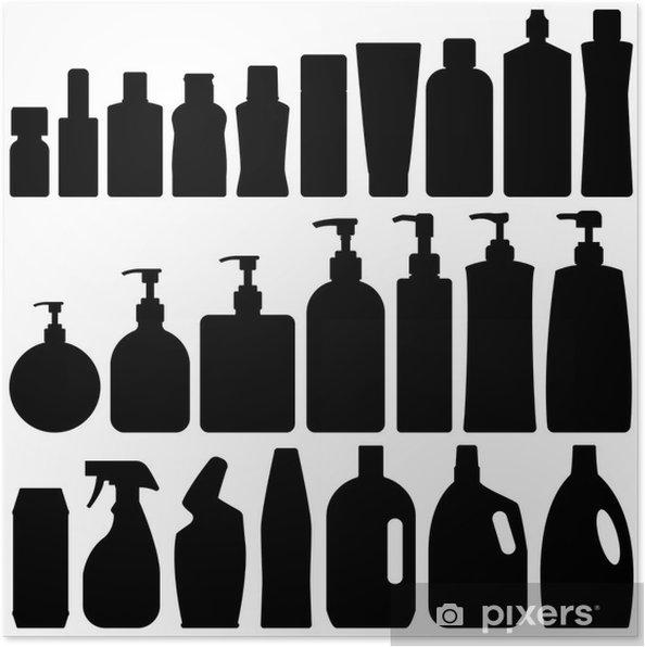 Poster Badezimmer Flaschen Silhouette Vector • Pixers® - Wir leben ...