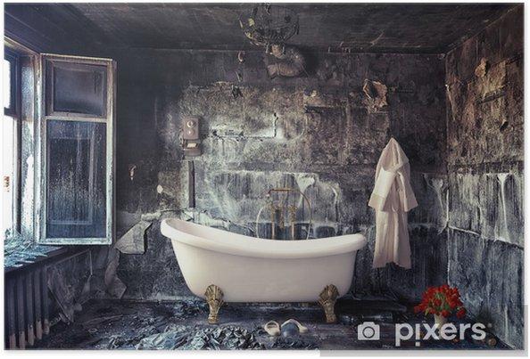 Poster Badezimmer Pixers Wir Leben Um Zu Verändern