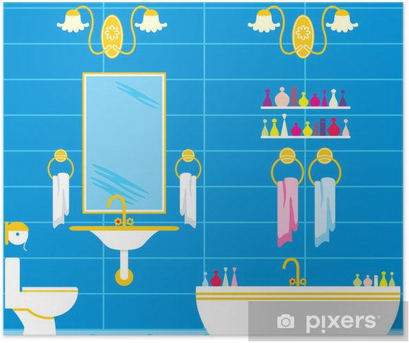 Poster Badezimmer