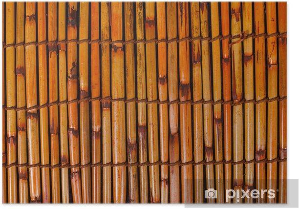 Poster Bambusmatte - Asien