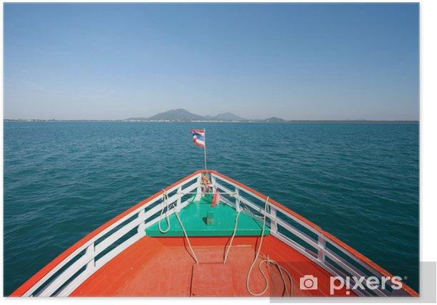 Poster Barca in mare - Barche