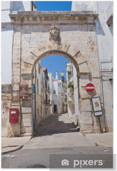 Poster Barsento Tür. Putignano. Apulien. Italien. - Urlaub