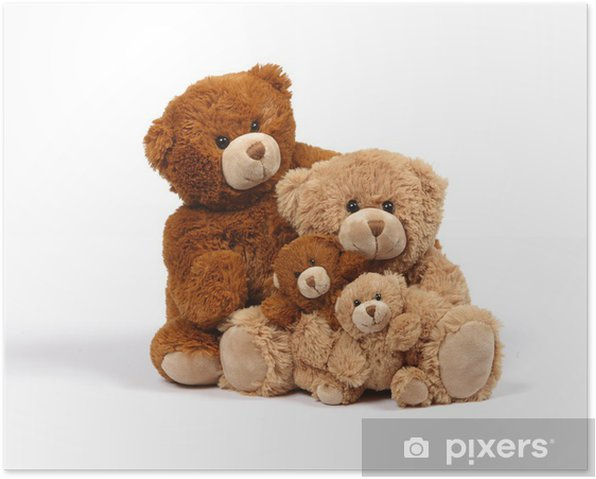Poster Bear Family - Spiele