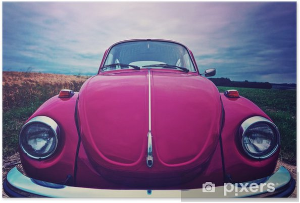 Poster Beetle frontale - auto cult in Germania - Trasporti