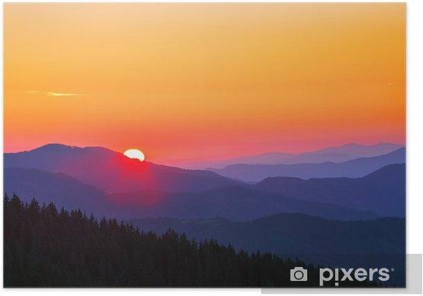 Poster Bellissimo paesaggio autunnale in montagna - Cielo