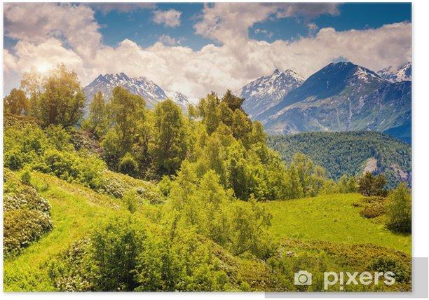 Poster Berglandschaft von Georgien - Berge