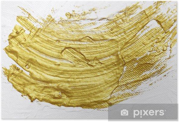 Poster Bianco E Oro Pittura Acrilica Con Texture Di Sfondo Pixers
