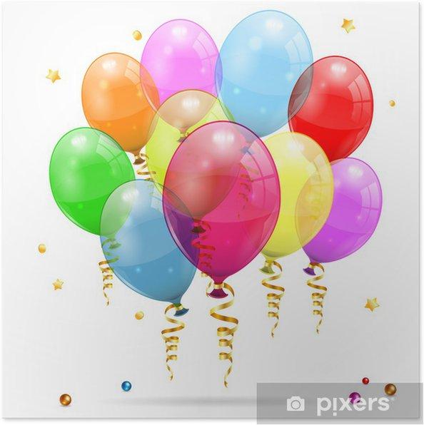 Poster Birthday Balloons O PixersR