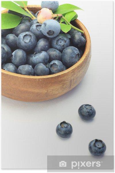 Poster Blaubeere - Früchte