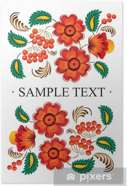Poster Blume Folk decor - Asien