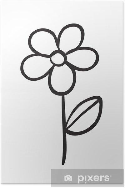 Poster Blumen-Skizze - Blumen