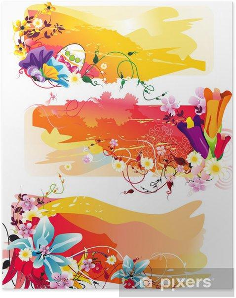 Poster Blütenfarbe Vektor - Sonstige Gefühle