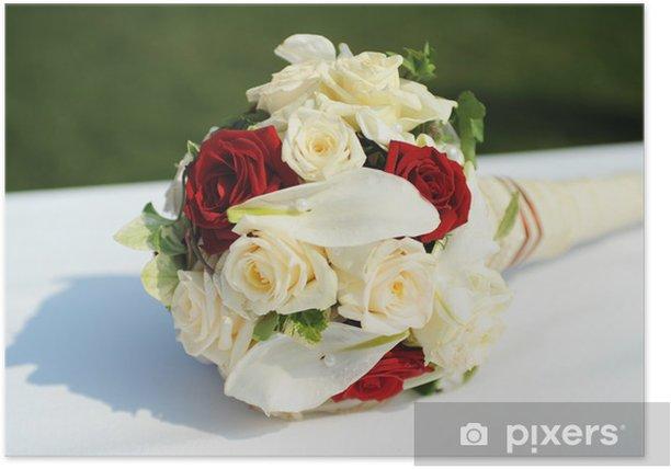 Bouquet Da Sposa Bianco.Poster Bouquet Da Sposa Bianco E Rosso Pixers Viviamo Per Il