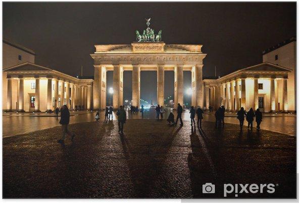 Poster Brandenburger Tor, Berlin, Deutschland. - Europäische Städte