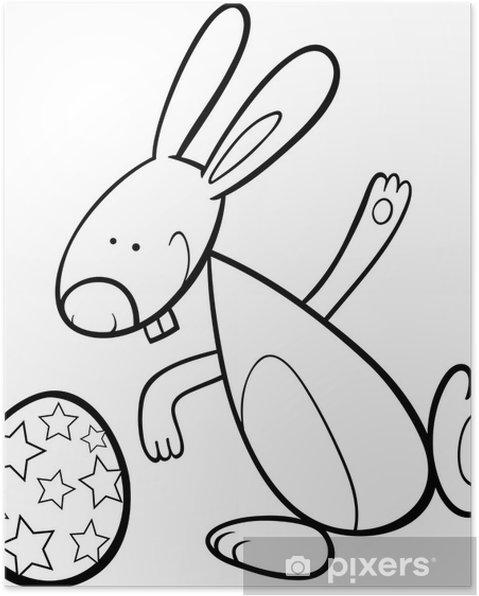 Poster Buffo Coniglietto Di Pasqua Da Colorare Pixers Viviamo