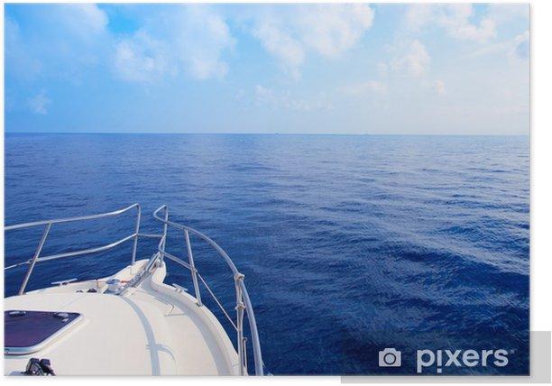 Poster Bug Segeln in blauen Mittelmeer - Boote