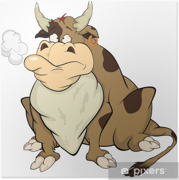 Poster Bull. Cartone animato - Mammiferi