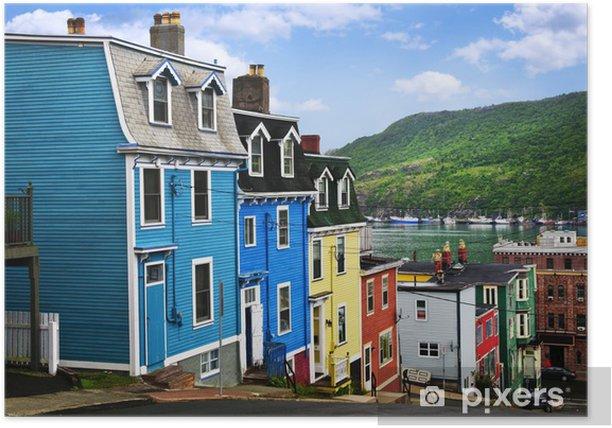 Poster Bunte Häuser in St. Johns - Infrastruktur