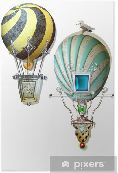 Poster Bunte Luftballons - Sonstige Gefühle
