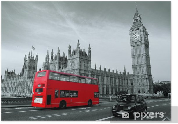 Poster Bus a Londra -