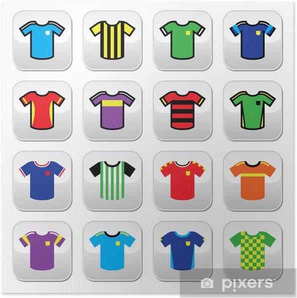 newest collection 9b6e2 ec83d Poster Calcio o di calcio del pullover di pulsanti colorati insieme