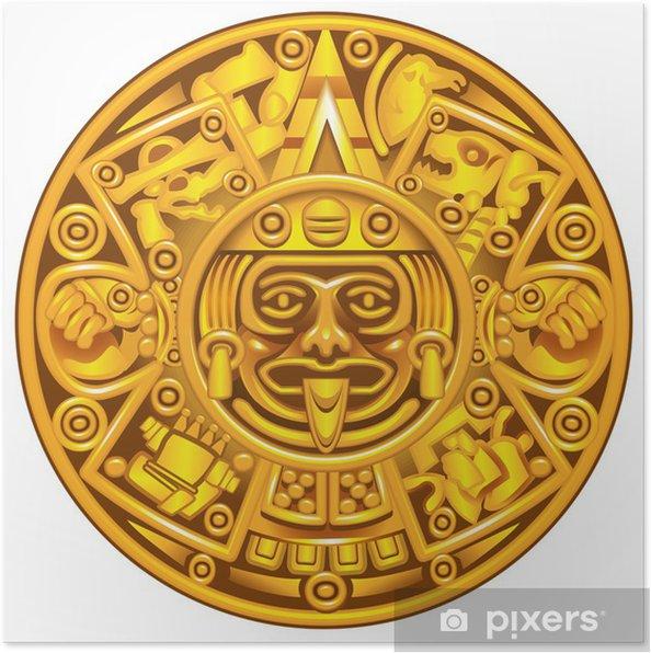 Calendario Dei Maya.Poster Calendario Maya