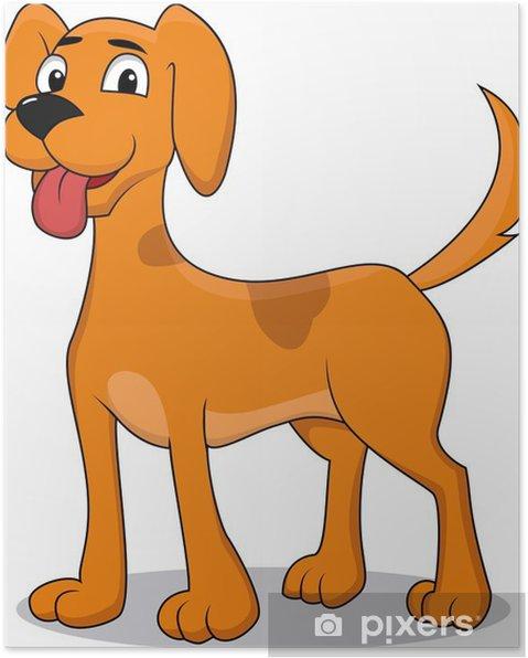 Poster cane cartone animato felice u2022 pixers® viviamo per il