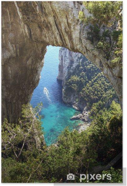 Poster Capri, natürlichen Bogen - Urlaub