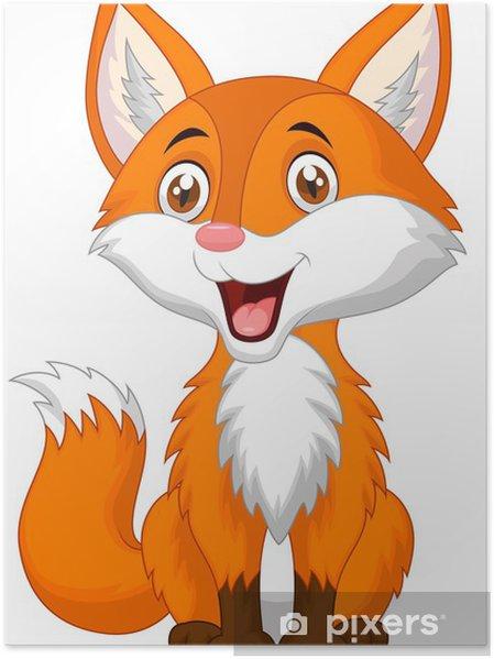 Poster carino volpe cartone animato u2022 pixers® viviamo per il
