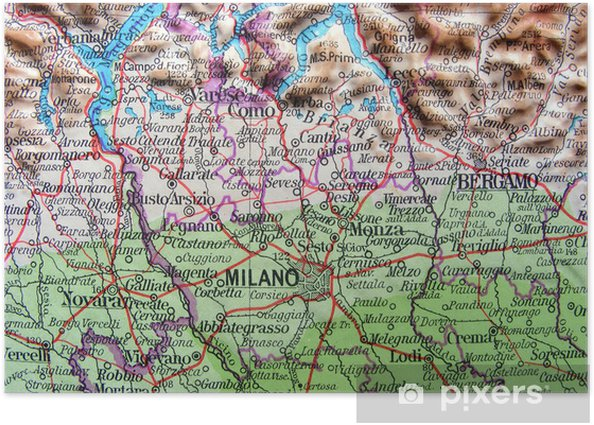 Immagini Lombardia Cartina.Poster Carta Geografica Della Lombardia Pixers Viviamo Per Il Cambiamento