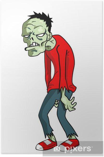 Poster cartone animato zombie u2022 pixers® viviamo per il cambiamento