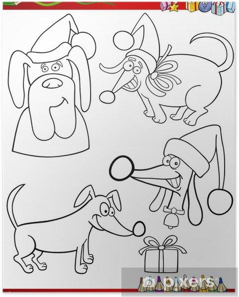 Themen Zu Weihnachten.Poster Cartoon Weihnachten Themen Ausmalbilder