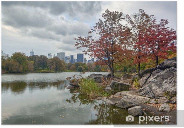 Poster Central Park der See - Amerikanische Städte