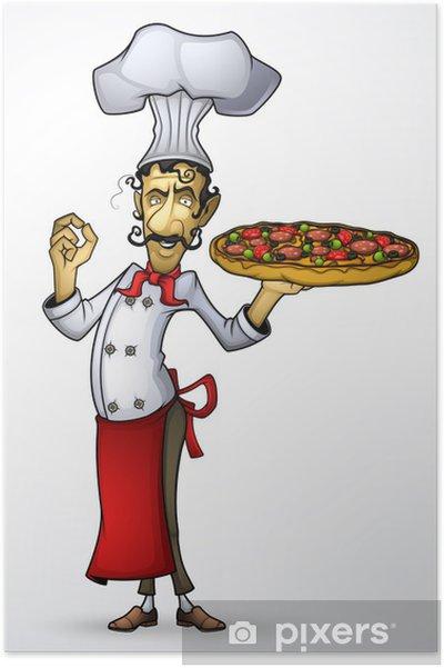 Poster Chef con la pizza in mano • Pixers® - Viviamo per il cambiamento b9b226f9c491