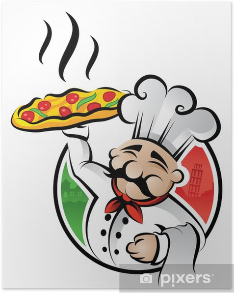 Poster Chef pizza • Pixers® - Viviamo per il cambiamento 16e2ac99e681