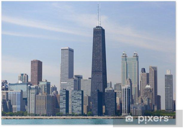 Poster Chicago skyline - Temi