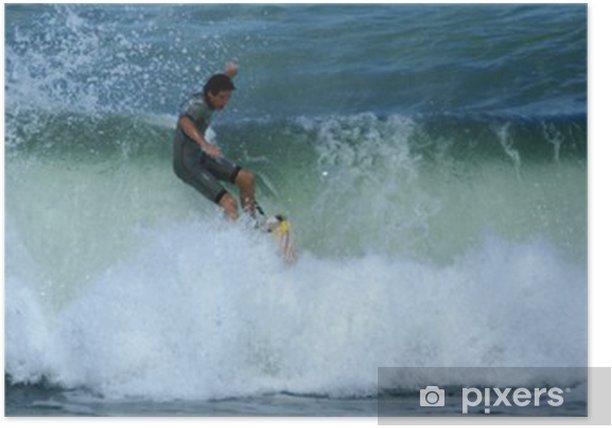 Poster Chutte de surfeur - Leben