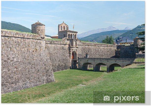 Poster Ciudadela von Jaca, eine militärische Festung in Spanien - Europa