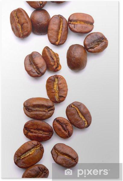 Poster Close up der aromatischen Kaffee Bohnen - Themen