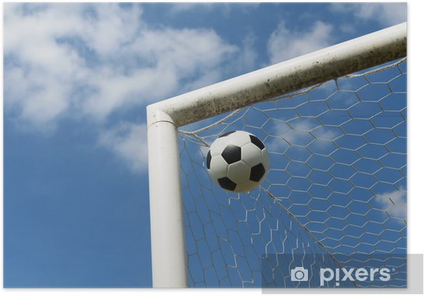 Poster Close-up von einem Fußball - Religion