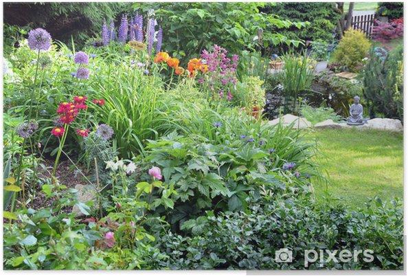 Poster colorato fiore letto giardino u2022 pixers® viviamo per il