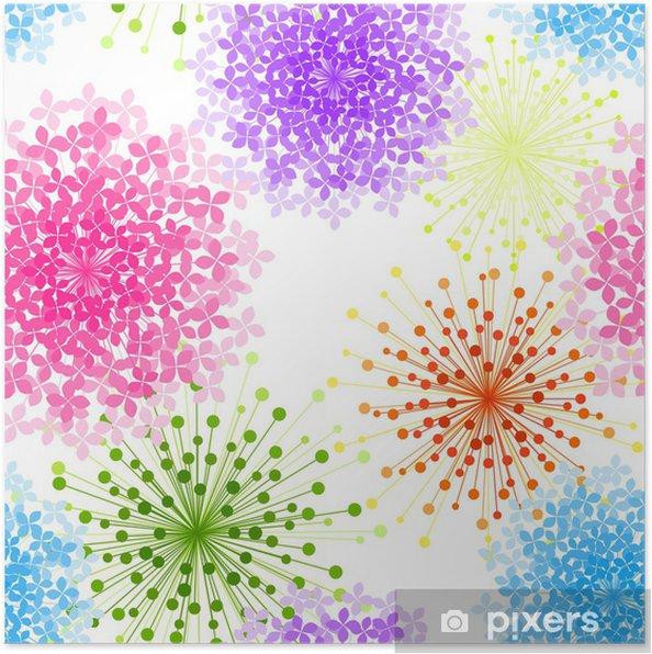 Poster Colorful Hydrangea Fiore Senza Sfondo Pixers Viviamo Per
